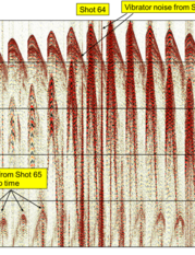 fig. 2a - Shot 64 showing harmonic contamination.